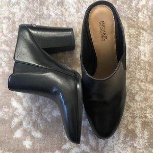 MICHAEL Michael Kors Braden Black Leather Clogs